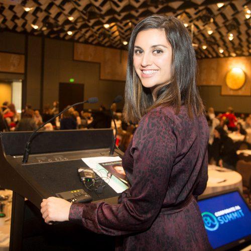 Jamila Rizvi speaking at an event